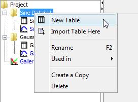 Folder context menu