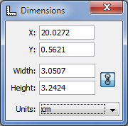 Drawing Dimensions toolbar
